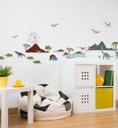 Chambre enfant petits stickers dinosaures