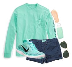 """Walking on the boardwalk"" by lacrosse-19 on Polyvore featuring Vineyard Vines, bkr, Ray-Ban, Too Faced Cosmetics and NIKE"