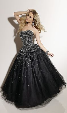 White prom dress - would be  cute for wedding dress style