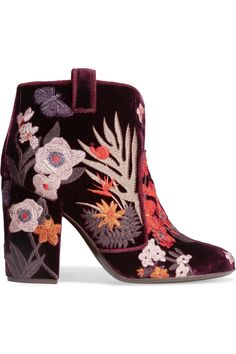 Laurence Dacade | velvet embroidered boots
