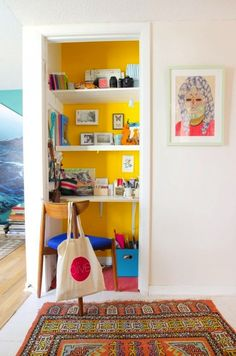 Small Space? 13 Creative Places to Fit a Home Office via Brit + Co.