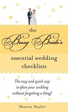 in addition to her wedding planner, every bride needs this checklist book to keep track of the thousands of details of planning.