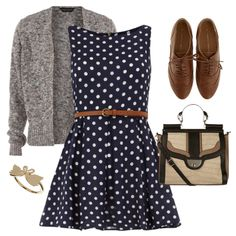 Minus the brogues and perhaps with a smarter cardigan. Otherwise I love the idea. Very cute <3
