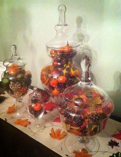 Thanksgiving Apothecary Jars