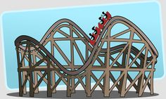 rollercoaster roller coaster big dipper switchback