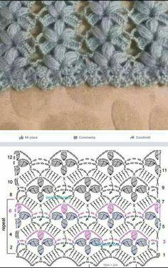 Best 12 Knitting – Clara Ramirez – Crochet stitches patterns – – Page 295619163040776521 – SkillOfKing. Crochet Diagram, Crochet Chart, Crochet Motif, Crochet Lace, Free Crochet, Crochet Stitches Patterns, Crochet Designs, Knitting Patterns, Poncho Crochet