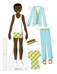 Paper dolls by Julie Allen Matthews. Paper Doll School features free printable paper dolls and tips about making paper dolls. Barbie Paper Dolls, Vintage Paper Dolls, Paper Toys, Paper Crafts, Doll Crafts, History Of Paper, Paper Dolls Printable, Paper Doll Template, Doll Quilt