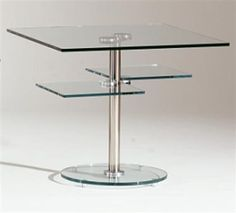 Chrome Glass Lamp Table