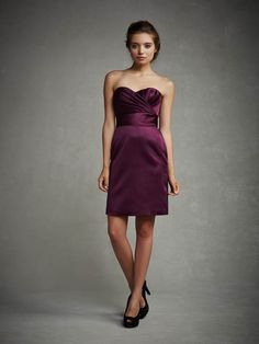 Cheap Simple Sheath/Column Sweetheart Ruching Short/Mini Satin Cocktail Dresses From Highly Praised Online Shop