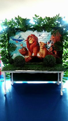 Lion King poster for VIP table (ruler of the jungle) Lion King Poster, Lion King Theme, Lion King Party, Lion King Birthday, Baby Boy 1st Birthday Party, Jungle Theme Birthday, Safari Theme Party, Girl Birthday Themes, Halloween Backdrop