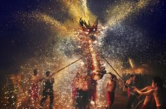Second Place, Hong Kong, National Awards: Fire Dragon festival in Macau.