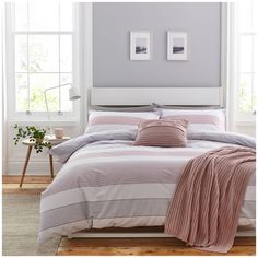 Buy Catherine Lansfield Blush Newquay Stripe Bedding Set - King at Argos. Thousands of products for same day delivery or fast store collection. King Duvet Set, King Duvet Cover Sets, Double Duvet Covers, King Bedding Sets, Duvet Bedding, Pink Bedding, Bed Duvet Covers, Duvet Sets, Luxury Bedding