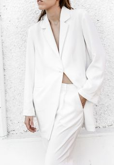 White trouser suit