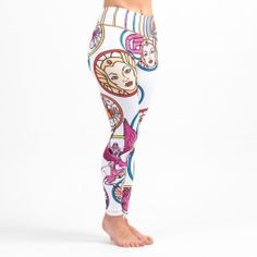 She-Ra, the Princess of Power no longer has to live in the shadow of her twin brother, He-Man! With these awesome women's grappling tights, Princess Adora certainly has the upper hand over Prince Adam, at least when it comes to fashion (c'mon, the guy wears a loincloth for god's sake…)  The design on these sports leggings features She-Ra cruising around Etheria on her winged unicorn Swift Wind. #leggings #shera #heman #spats #bjj #crossfit #gym #tights #officiallylicensed #yoga