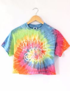 2af939568a12b Chill Out Pastel Tie-Dye Graphic Crop Top