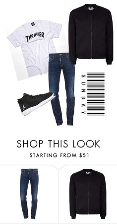 """""""R Sunday"""" by zsugabubus ❤ liked on Polyvore featuring Dsquared2, Topman, NIKE, men's fashion and menswear"""