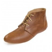 Chestnut Brown Leather Flat Lace-up Nomad Booties | Sseko  Designs - Size 8