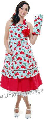 Jessie Steele Vintage Style Courtney Cherry Kitchen POTT MITT/OVEN MITT ONLY