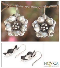 http://jewelry.novica.com/earrings/drop/floral/womens/silver-flower-earrings-chiang-mai-rose/181653/
