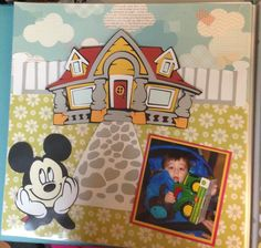 Mickey Mouse scrapbook layout - cricut Mickey and Friends