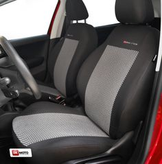 2 RED FRONT VEST CAR SEAT COVERS PROTECTORS FOR VAUXHALL ASTRA