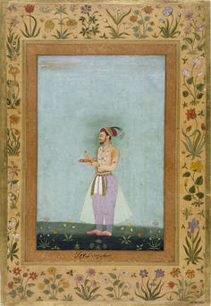 Prince Dara Shikoh holds a tray of jewels