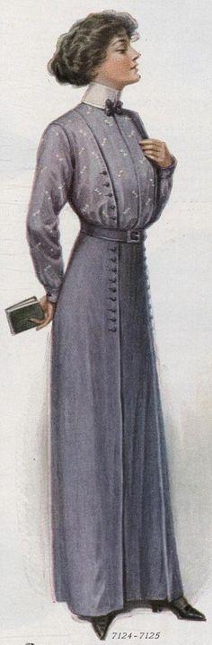shirtwaist and matching skirt