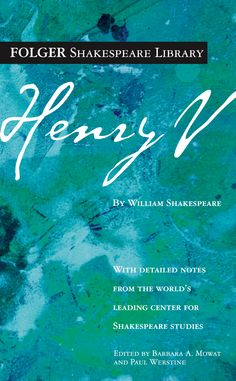 The Folger Editions cover of Henry V