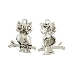 No of Pieces 15 xMain Colour Antique SilverMaterial TibetanSize 24mmShape Charms Pendants Owl Additional Info Free of Lead Nickel and