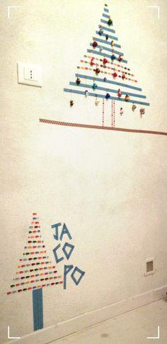 idea albero di natale da parete