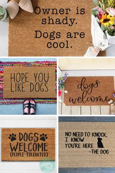 mom and baby Best welcome mats for dog parents! My dog is my baby - so I love these! Too funn. Best welcome mats for dog parents! My dog is my baby - so I love these! Too funny. Dog Door Mat, Dog Home Decor, Irish Decor, Front Door Mats, Funny Doormats, Dog Rooms, Welcome Mats, Diy Door, Porch Decorating