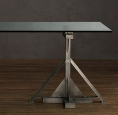 Industrial Assembly Line Rectangular Dining Table