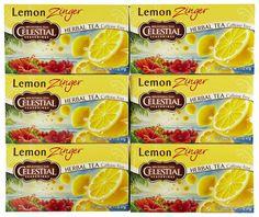 Celestial Seasonings Herbal Tea Lemon Zinger 20 Bags Pack of 6 Review Buy Now