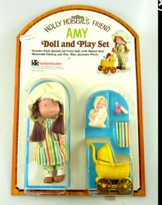Holly Hobbie toys I had this! I had forgotten all about the baby buggy.
