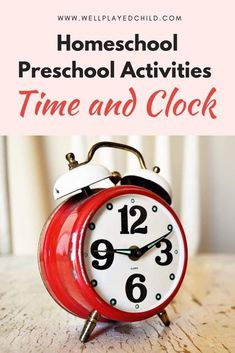 Easy time and clock preschool activities to occupy your children for a week Preschool Curriculum, Preschool Activities, Homeschool, Kindergarten Worksheets, Clock Craft, Activities For 2 Year Olds, Spring Activities, Math Classroom, Google Classroom