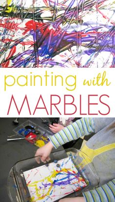 Painting with Marbles - A great process-oriented art activity for kids!