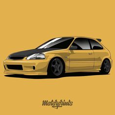 Honda Civic EG. By order Order art with your favorite cars or gifts for your friends! I accept orders. Write me to direct… Civic Jdm, Honda Civic Sport, Honda Civic Coupe, Honda Civic Hatchback, Honda S2000, Ek Hatch, Japanese Domestic Market, Honda City, Mitsubishi Lancer Evolution