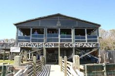 Provision Company, Holden Beach, NC. Best shrimp burgers around.
