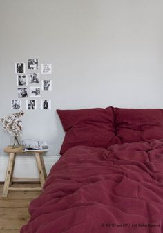 Linen duvet cover 220 x 240 cm - Burgundy — Bodie and Fou - Award-winning inspiring concept store