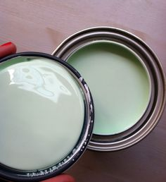Little Green Notebook: Mint Green Step StoolBehr's Kiwi Squeeze- @Sarah Chintomby Quarantotto- your color?