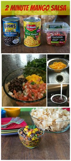 Quick and easy 2 minute spicy pico de gallo mango salsa recipe @delmontebrand | ethnicspoon.com