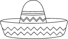 Sombrero pattern. Use the printable outline for crafts