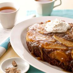 Pear and Chai Breakfast Cake