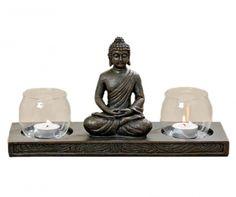 Buddha Two Gyertyatartó