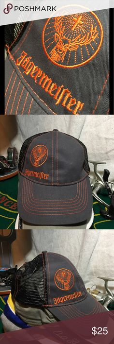 New Jagermeister Embroidered Hat Baseball Cap New Jagermeister Embroidered Hat Baseball Cap SnapBack JAGERMEISTER Accessories Hats