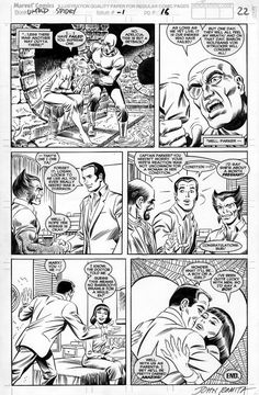 Comic Art For Sale from Coollines Artwork, ROMITA SR, JOHN - Untold Spiderman -#1 last page, Wolverine and Peter Parker is announced- 1 month along by Comic Artist(s) John Romita Sr.