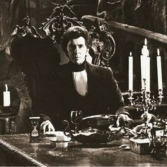 Count Dracula at Home.  Notice how the candles add Charm to the Decor.