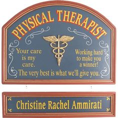 Personalized Physical Therapist Custom Wood Sign