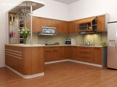 10 brown kitchen designs for different spaces Brown Kitchen Designs, Best Kitchen Designs, Modern Kitchen Design, Open Kitchen Cabinets, Kitchen Cabinet Styles, Log Home Kitchens, Modern Kitchens, Kitchen Modular, Brown Kitchens