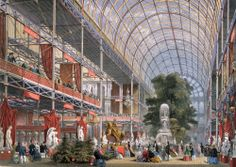 Would loved to have visited this} An artist's impression of the Great Exhibition inside Crystal Palace, then in Hyde Park. (Photo by Hulton Archive/Getty Images) | First look...